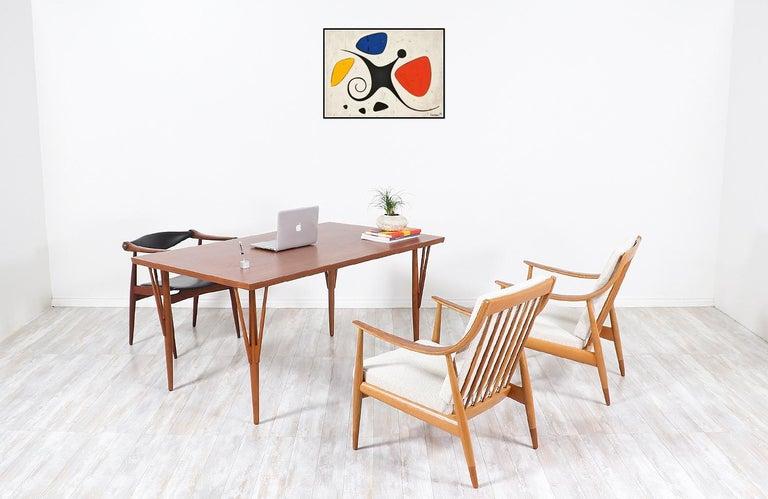 Hans J. Wegner JH-561 Dining Table / Desk for Johannes Hansen For Sale 1