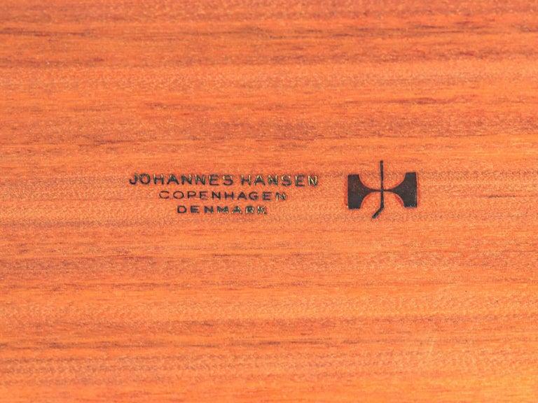 Hans J. Wegner JH570 Teak Dining Table for Johannes Hansen For Sale 5