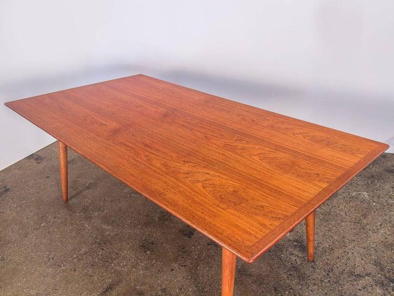 Mid-20th Century Hans J. Wegner JH570 Teak Dining Table for Johannes Hansen For Sale