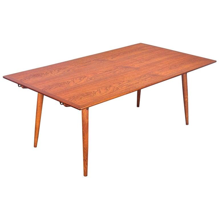 Hans J. Wegner JH570 Teak Dining Table for Johannes Hansen For Sale
