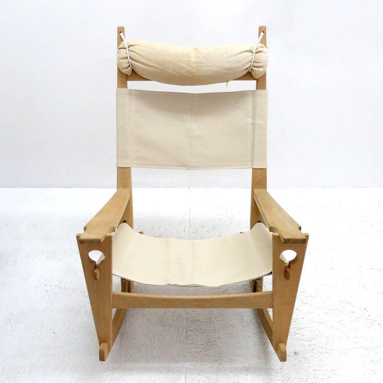 Scandinavian Modern Hans J. Wegner 'Keyhole' Rocking Chair, 1967 For Sale