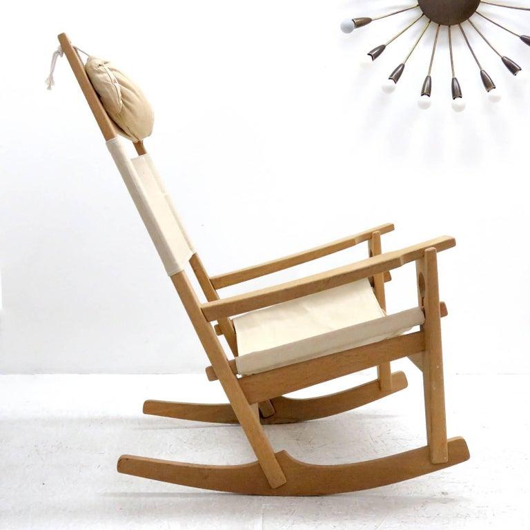 Danish Hans J. Wegner 'Keyhole' Rocking Chair, 1967 For Sale