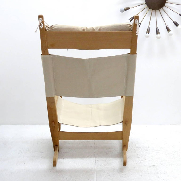 Hans J Wegner Keyhole Rocking Chair 1967 In Excellent Condition For