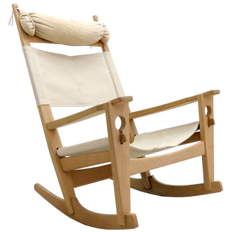 Hans J. Wegner 'Keyhole' Rocking Chair, 1967 For Sale