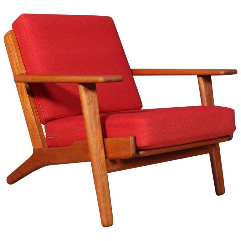 Hans J. Wegner, Lounge Chair, Model 290, Teak For Sale