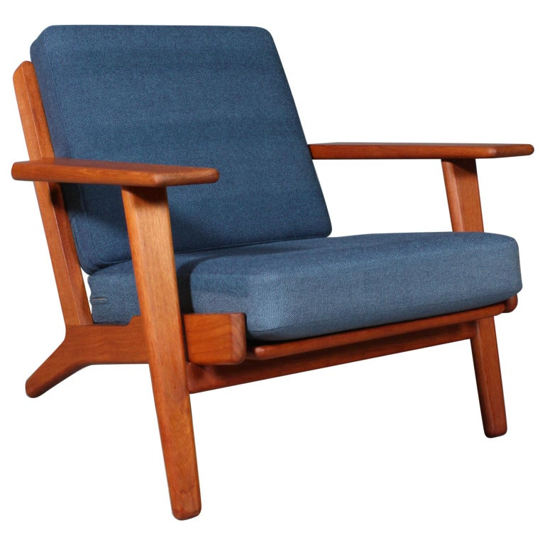 Hans J. Wegner, Lounge Chair, Model 290, Teak