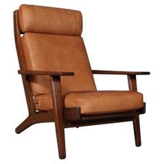 Hans J. Wegner, Lounge Chair, Model 290A, Smoked Oak