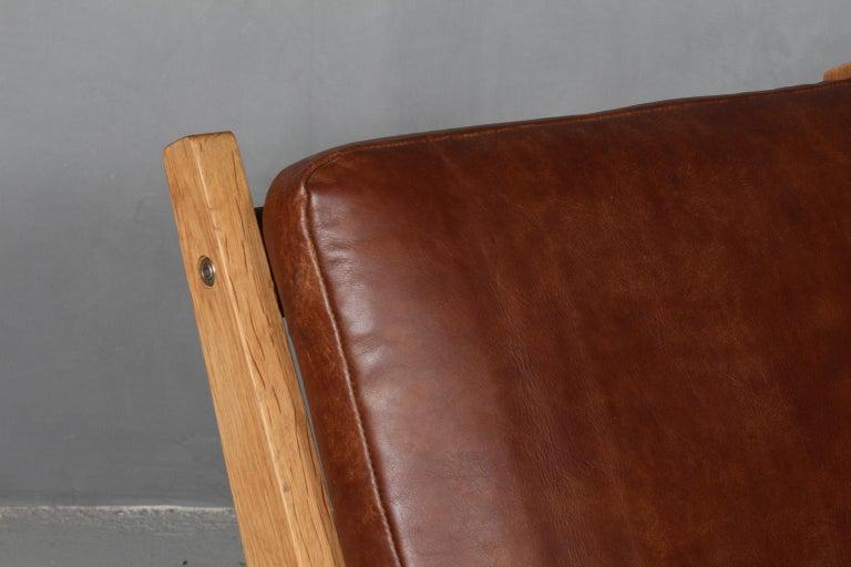 Scandinavian Modern Hans J. Wegner Lounge Chair, Model GE-370 For Sale