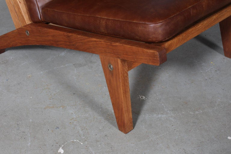 Danish Hans J. Wegner Lounge Chair, Model GE-370 For Sale