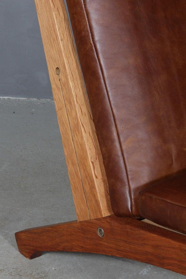 Hans J. Wegner Lounge Chair, Model GE-370 In Good Condition For Sale In Esbjerg, DK
