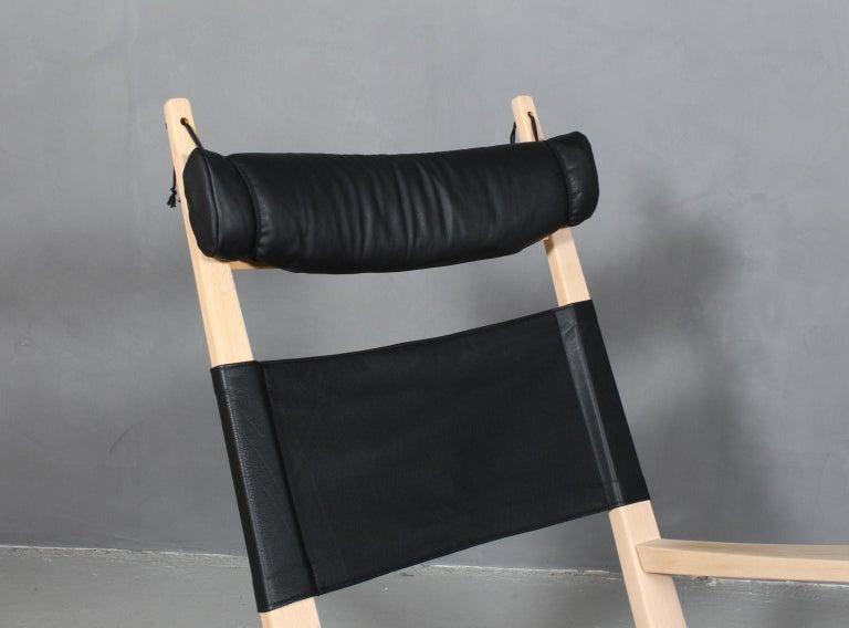 Scandinavian Modern Hans J. Wegner Lounge Chair / Rocking Chair For Sale