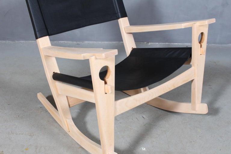 Danish Hans J. Wegner Lounge Chair / Rocking Chair For Sale