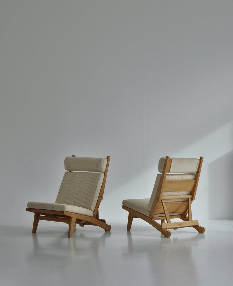 Scandinavian Modern Hans J. Wegner Lounge Chairs