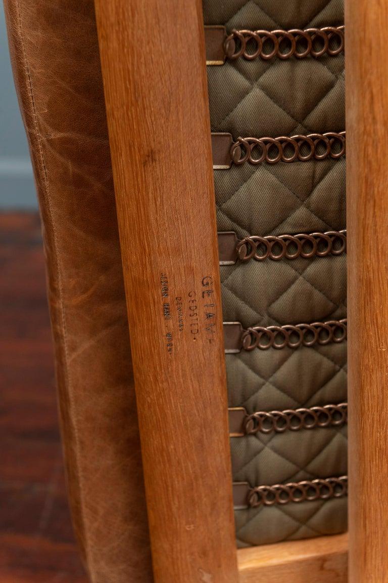 Leather Hans J Wegner Lounge Chairs for Getama Model 290 For Sale