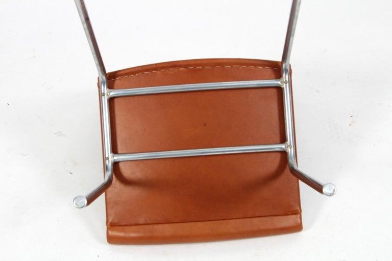Danish Hans J. Wegner Lufthavnsstole Model AP38, Cognac Aniline Leather For Sale
