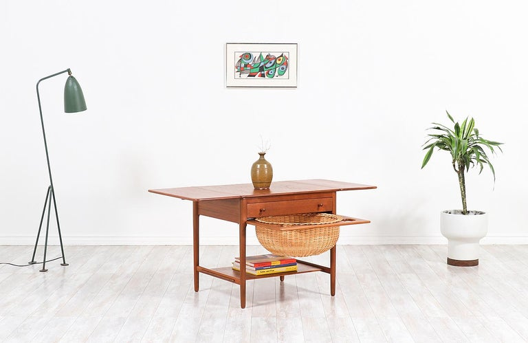 Hans J. Wegner Model AT-33 Sewing Table for Andreas Tuck For Sale 1
