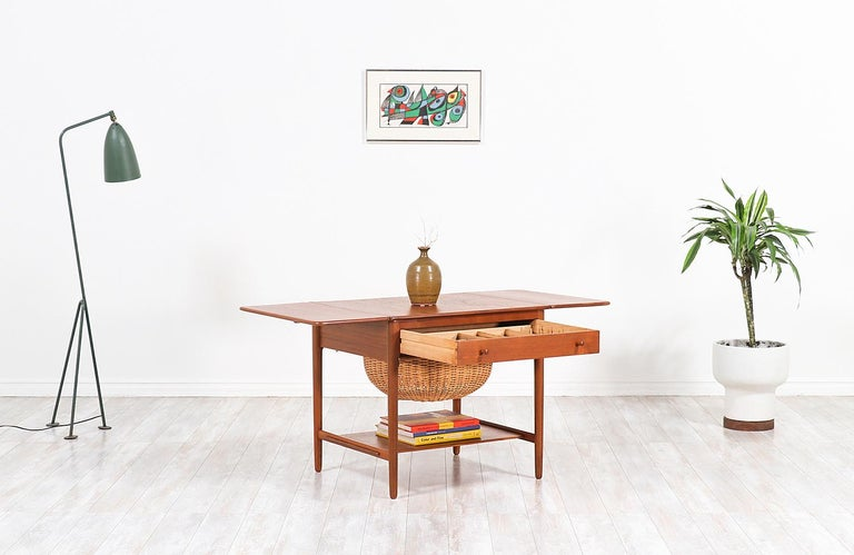 Hans J. Wegner Model AT-33 Sewing Table for Andreas Tuck For Sale 2