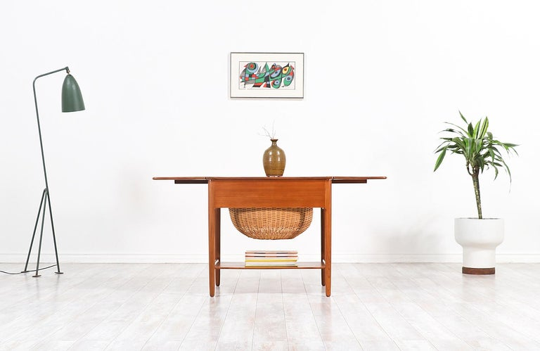 Hans J. Wegner Model AT-33 Sewing Table for Andreas Tuck For Sale 5