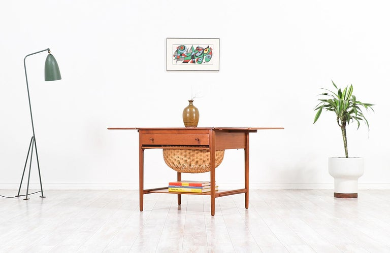 Hans J. Wegner Model AT-33 Sewing Table for Andreas Tuck For Sale 6