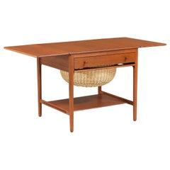 Hans J. Wegner Model AT-33 Teak Sewing Table for Andreas Tuck