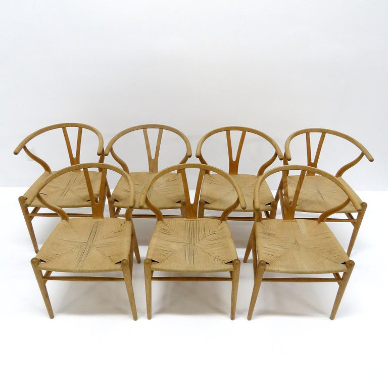 Hans J. Wegner Model CH-24 Dining Chairs, 1950 For Sale 1