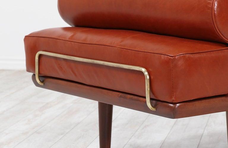 Hans J. Wegner Model GE19 Cognac Leather Daybed for GETAMA For Sale 5