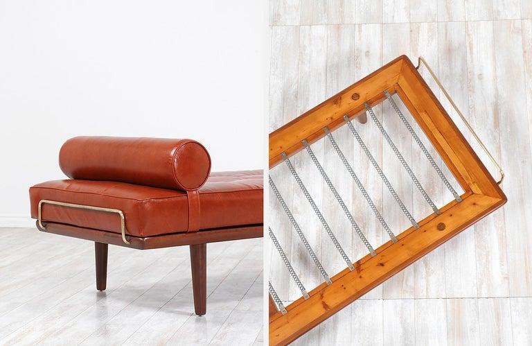 Hans J. Wegner Model GE19 Cognac Leather Daybed for GETAMA For Sale 6