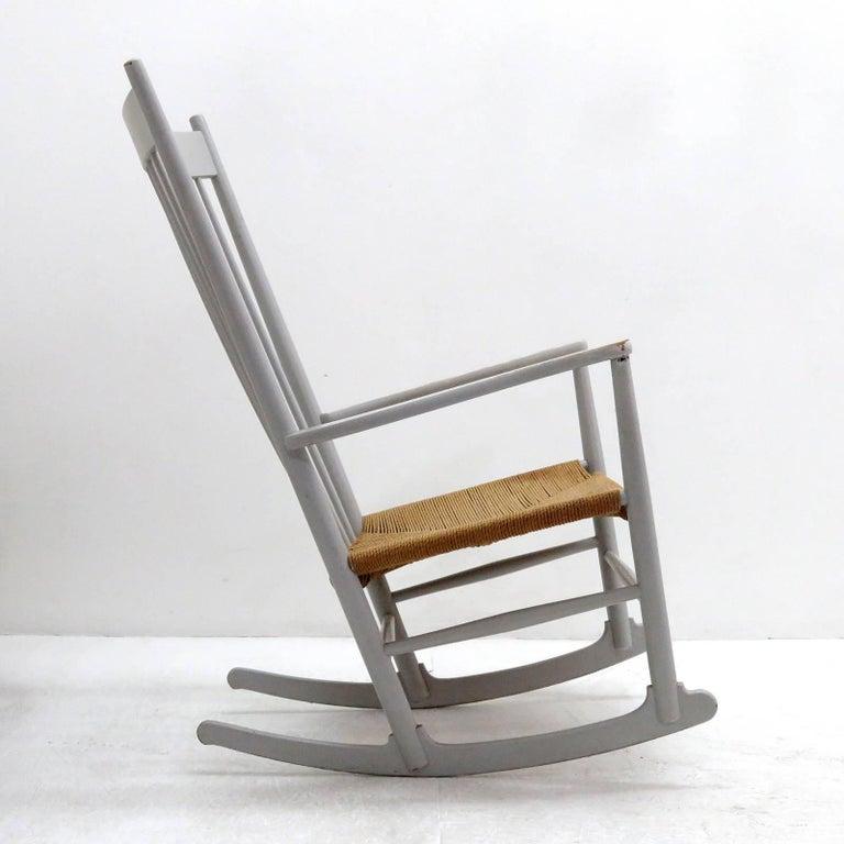 Danish Hans J. Wegner Model J16 Rocking Chair, 1961 For Sale