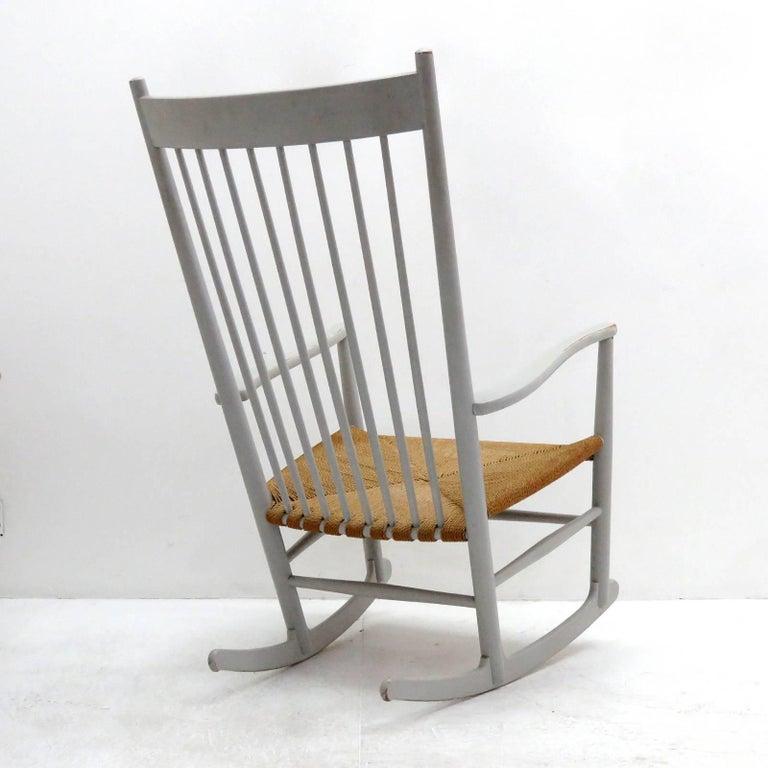 Painted Hans J. Wegner Model J16 Rocking Chair, 1961 For Sale