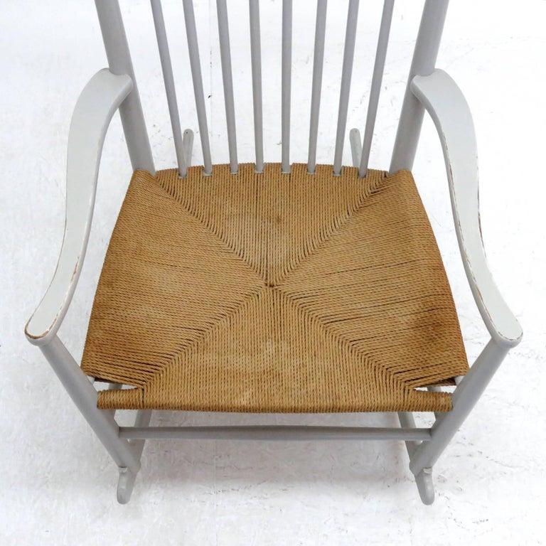Hans J. Wegner Model J16 Rocking Chair, 1961 For Sale 1