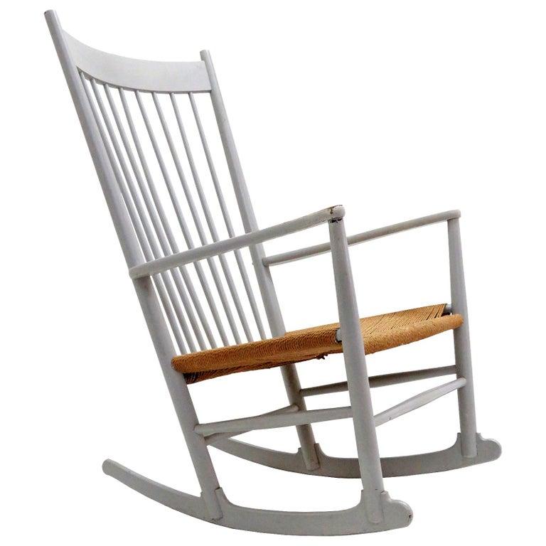 Hans J. Wegner Model J16 Rocking Chair, 1961 For Sale