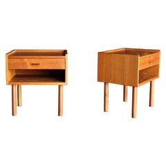 "Hans J. Wegner Nightstands "" Model 430 "" for Ry Møbelfabrik, circa 1960"