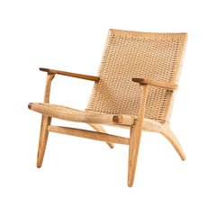 Hans J. Wegner, Oak and Cord Lounge Chair CH 25, Denmark