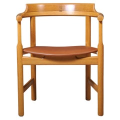 Hans J Wegner Oak Dining Chairs, Set of 4