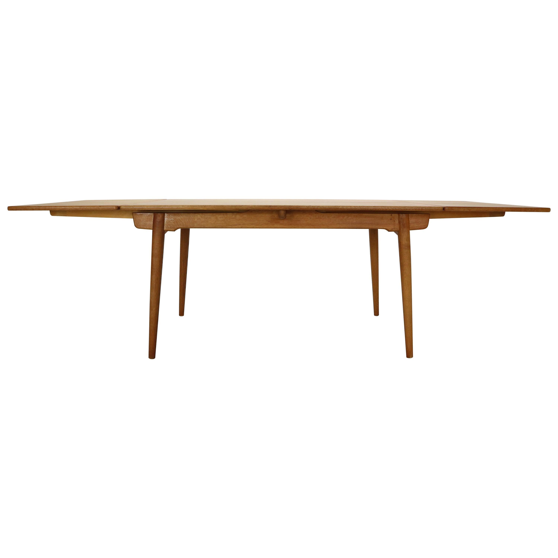 Hans J. Wegner Oak Extendable Dining Table AT-312 for Andreas Tuck, Denmark