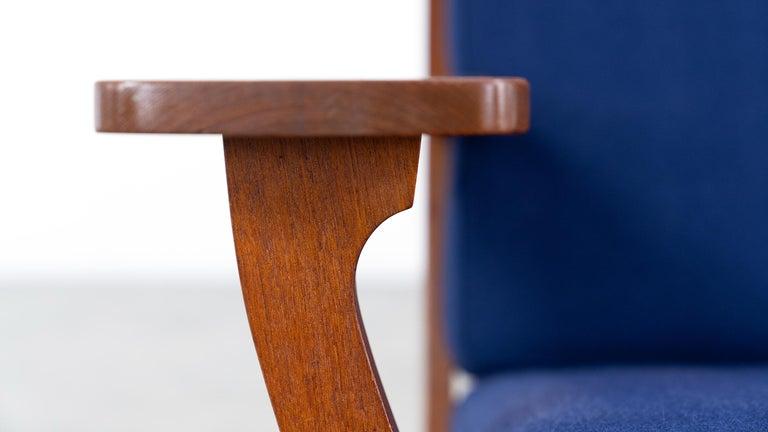 Hans J. Wegner, Original 1956, Lounge Chair Armchair GE-320 by GETAMA, Denmark For Sale 2