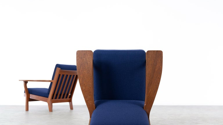 Hans J. Wegner, Original 1956, Lounge Chair Armchair GE-320 by GETAMA, Denmark For Sale 10