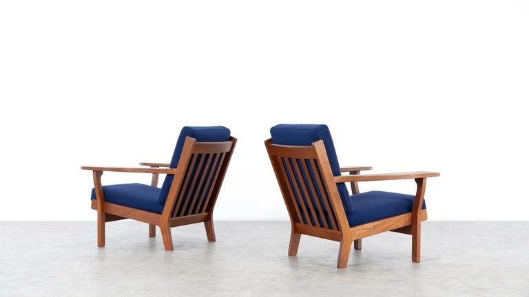 Hans J. Wegner, Original 1956, Lounge Chair Armchair GE-320 by GETAMA, Denmark For Sale 11
