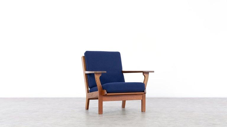 Scandinavian Modern Hans J. Wegner, Original 1956, Lounge Chair Armchair GE-320 by GETAMA, Denmark For Sale