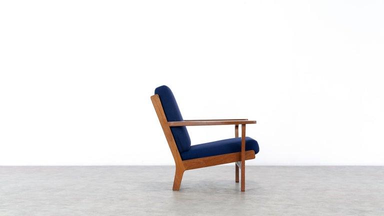 Hans J. Wegner, Original 1956, Lounge Chair Armchair GE-320 by GETAMA, Denmark In Good Condition For Sale In Munster, NRW