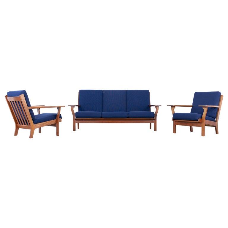 Hans J. Wegner, Original 1956, Lounge Chair Armchair GE-320 by GETAMA, Denmark For Sale