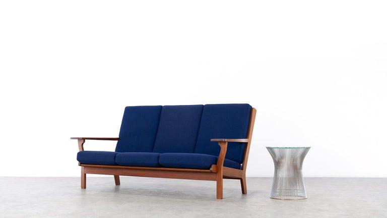 Scandinavian Modern Hans J. Wegner, Original 1956, Teak 3-Seat Sofa GE-320 by GETAMA, Denmark For Sale