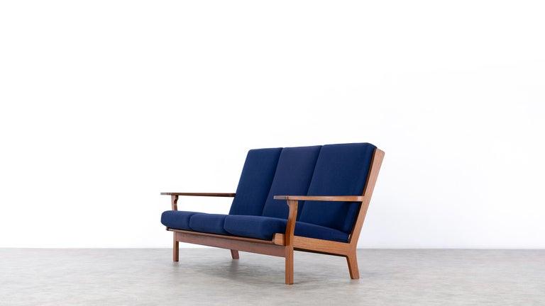 Hand-Crafted Hans J. Wegner, Original 1956, Teak 3-Seat Sofa GE-320 by GETAMA, Denmark For Sale