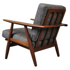 Hans J Wegner, Original GE240 Lounge Chair, Fumed Oak, New Upholstery