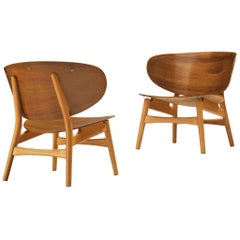 Hans J. Wegner Pair of 'FH 1936' Lounge Chairs