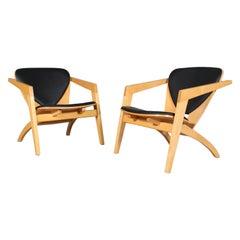 Hans J. Wegner Pair of Lounge Chairs