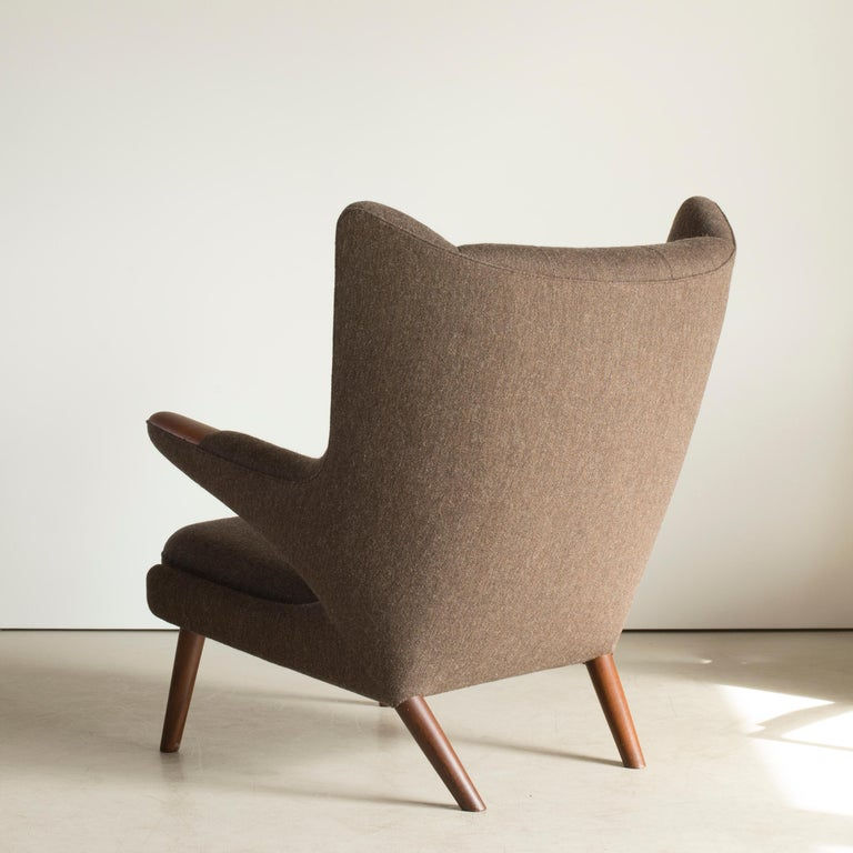 Scandinavian Modern Hans J. Wegner Papa Bear Chair for A.P. Stolen