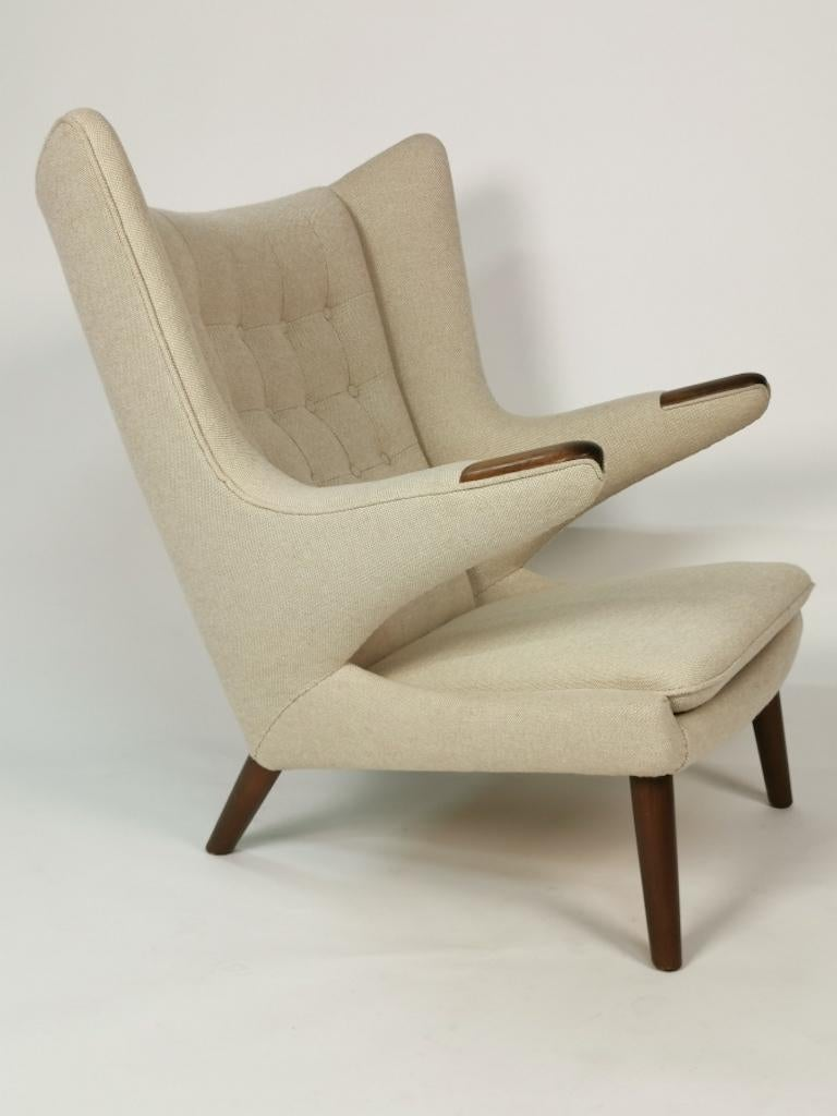 Hans J. Wegner, Papa Bear Easy Chair by Johannes Hansen For Sale 3