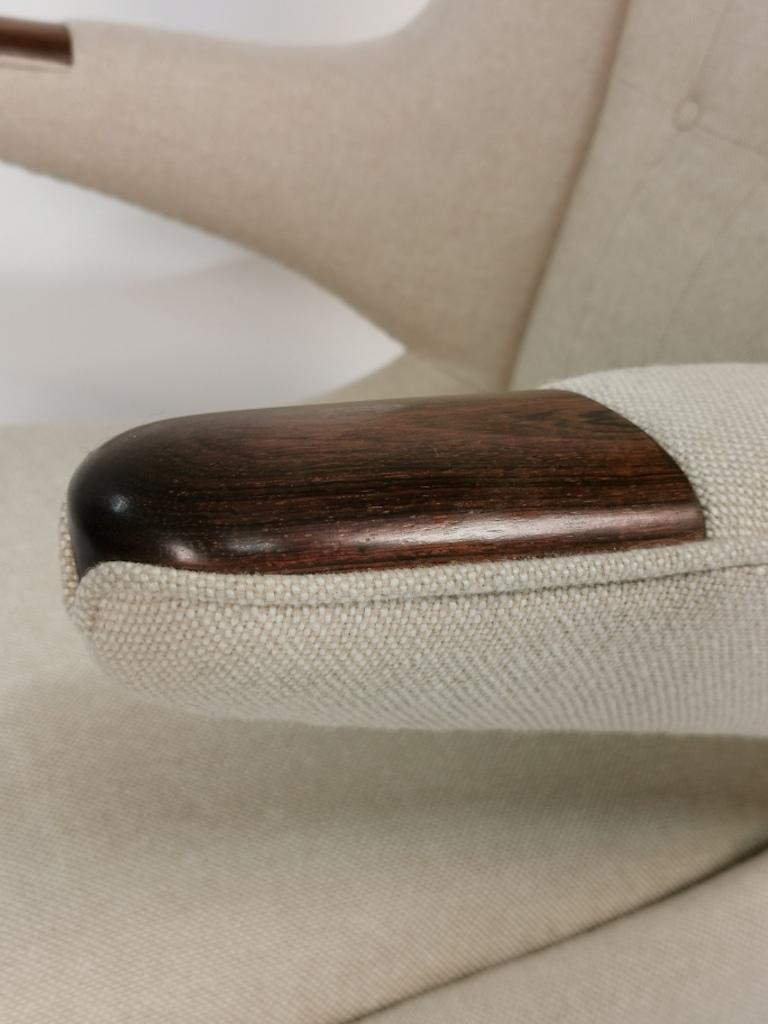 Danish Hans J. Wegner, Papa Bear Easy Chair by Johannes Hansen For Sale