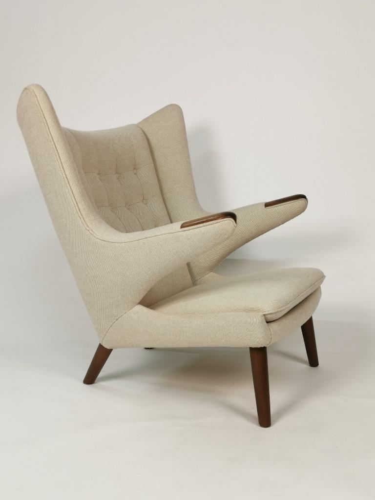Hans J. Wegner, Papa Bear Easy Chair by Johannes Hansen For Sale 2